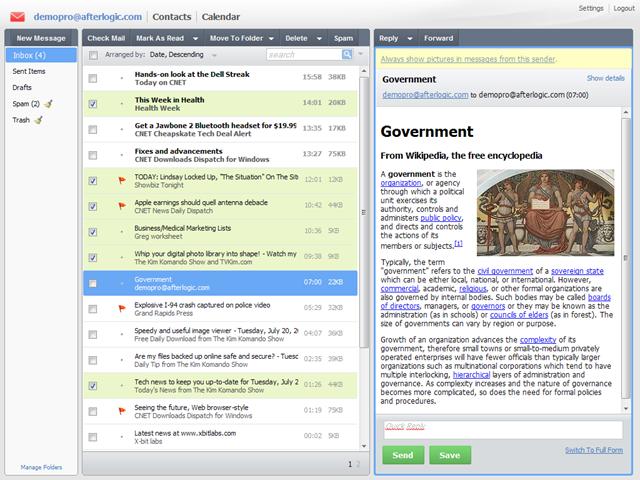 AfterLogic WebMail Lite PHP - Download AfterLogic WebMail ...
